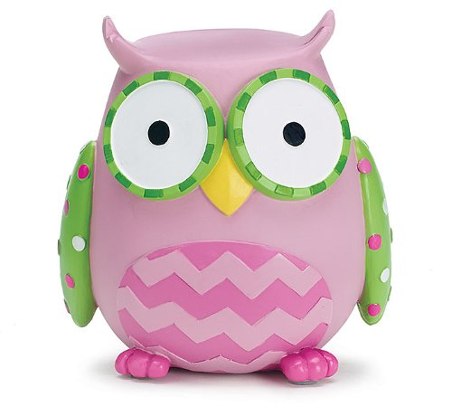 Burton & Burton Owl Money Savings Piggy Bank Pink 1363161