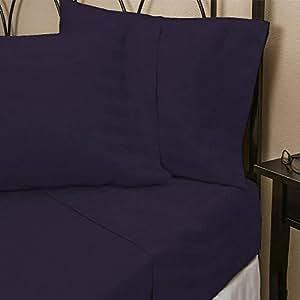 Brightlinen 4pcs Sheet Set Stripe Single Purple 400 Thread Count