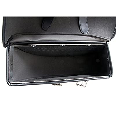 Motorcycle Bags, Saddlebags with Leather Shell, Black Handlebar Bag: Automotive
