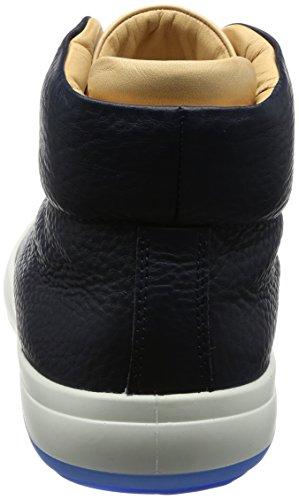 ECCO Kinhin, Sneaker a Collo Alto Uomo Blu (Marine/Veg Tan)