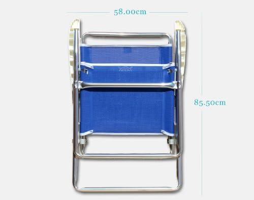 Pliante PA160B bleu Pour usage exterieur FORMA MARINE chaise de camping pliable Classic Structure en aluminium anodise /Ø 25mm Tissu: Textilene 650gr//m2 plage,plein air,pique-nique