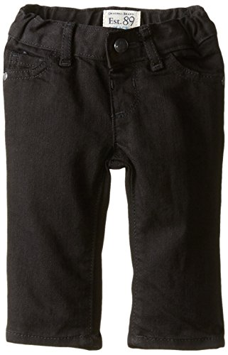The Children's Place Baby Girls' Skinny Jean, Black, 6-9 Months