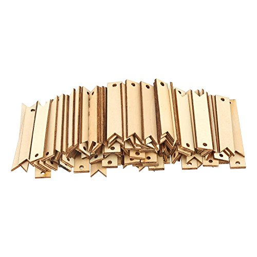 Wood Card Crafts,100pcs Nature Color Wooden Tags Crafts For Wall Wedding Party Room Decoration Accessories DIY