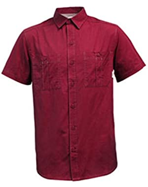 Smokey Brooke Short Sleeve Shirt, Red Velvet, Men's