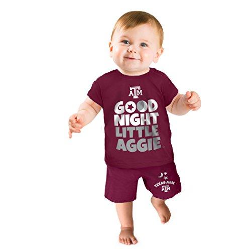 NCAA Texas A&M Aggies Boys Short Pajama Set, 3-6 Months, Maroon