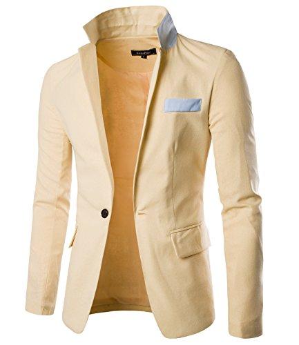 [해외]KELUO 망 슬림 패션 스포츠 블레 이저 재킷/KELUO Mens Slim Fashion Sport Blazer Jacket