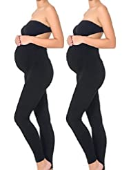 Mothers Essentials Maternity Pregnant Women Leggings Black