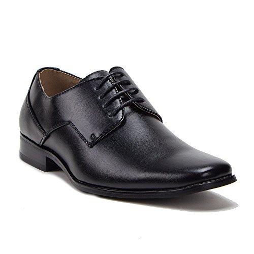 Nieuwe Heren 37683 Lederen Gevoerde Klassieke Veterjurk Oxfords Schoenen Zwart