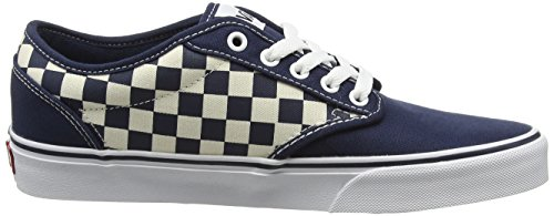 Baskets White 42 Checkers Blue 5 EU Contrast Dress White Basses Bleu Vans Black Homme Atwood Stitch RB5FZWxwgq