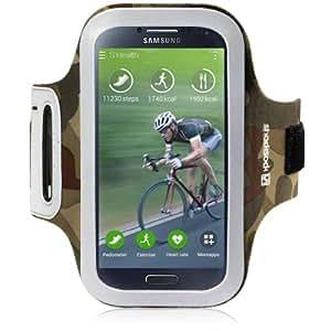 Funda brazalete / Cinta Brazo para Samsung Galaxy S4 iV i9500 Camuflaje Reflectante