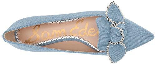 Sam Edelman Womens Rochester Ballet Flat Light Blue Denim