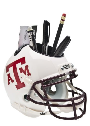 NCAA Texas A&M Aggies Helmet Desk Caddy, White