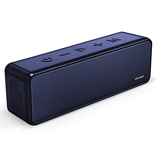 Vanzon X5 Pro Bluetooth Speakers – Portable Wireless Speaker V5.0 with 20W Loud Stereo Sound, TWS, IPX7 Waterproof & 24H Playtime, Extra Bass Suitable for Travel, Home and Outdoors