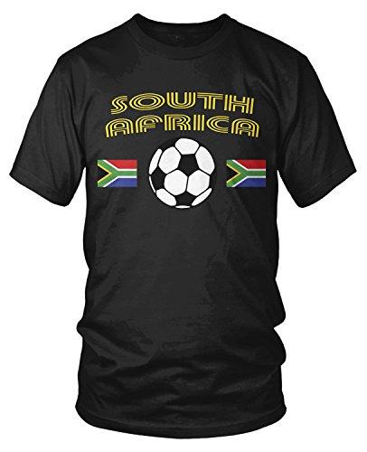 Amdesco Men's South African Soccer, South Africa Football T-shirt, Black 4XL by Amdesco