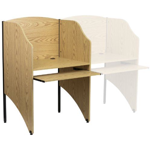 (Flash Furniture Starter Study Carrel in Oak Finish)