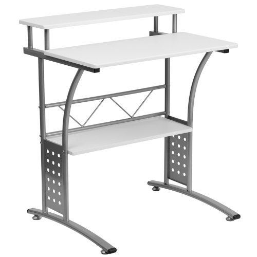 33.125'' Clifton White Computer Desk (1 Desk) - FF-NAN-CLIFTON-WH-GG (White Clifton All)
