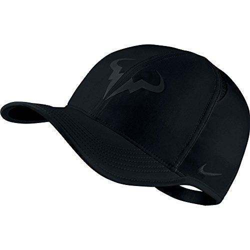 Nike Mens Nike Rafael Nadal Featherlight Adjustable Tennis Hat Black/Black