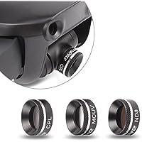 Drone Fans UV CPL ND8 Filters Set Camera Lens Filter Aluminum Alloy Sunhood for DJI Mavic Air Drone