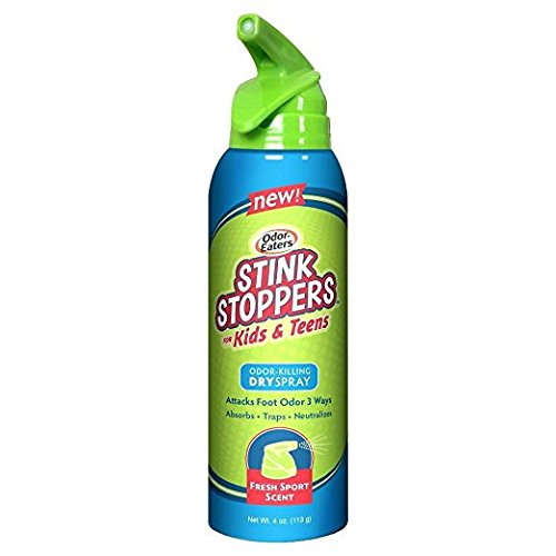 Odor Stoppers - Odor-Eaters Stink Stoppers for Kids & Teens Odor Killing Dry Spray - 4 Oz