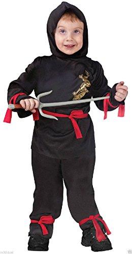 [Lil' Little Ninja Samurai Warrior Fighter Child Toddler Infant Boys Cute Costume] (Toddler Lil Ninja Costumes)