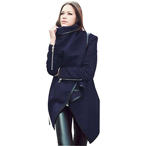 ManxiVoo Autumn Winter Jacket Cardigan Coat Irregular Coat Women Long Cashmere Overcoats Woman Trench Wool Coats (M, - Kors Uk M