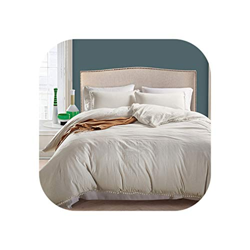 - KKK-3boss Bedding Set UK Size Duvet Cover White Brief Small Balls Bedclothes 3Pcs/Set Summer Bed Set Dark Blue 230220 King Size Bed Cover,Rice White Bedding,200 by 200Cm