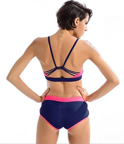 Traje De Baño De La Cintura Alta Mujer Atractiva Era Triángulo Delgado Separado Con Cojín Del Pecho Ningún Cuidado De Acero Beach Spa Swimwear