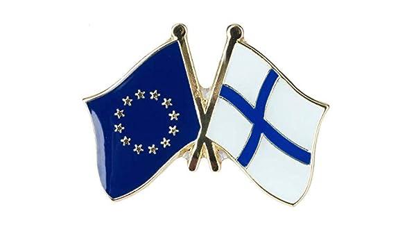 Pin de Solapa Bandera de La Unión Europea y Bandera de Finlandia: Amazon.es: Ropa y accesorios