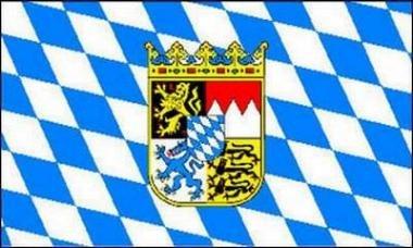 45 cm ohne Stock von Yantec 2er Pack Stockflaggen Bayern Rauten 30