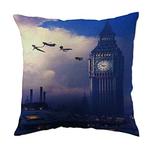 Peter Pan Flying Over Big Ben Pillow Covers (16x16 inch twin side) (Peter Pan Pillow compare prices)