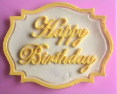 Silicone Mold Making Kit Happy Birthday Plaque Silicone Mold for Fondant, Gum Paste, Chocolate, Crafts, Silicone Mold Cake Decorating (Plaque Ice Print)