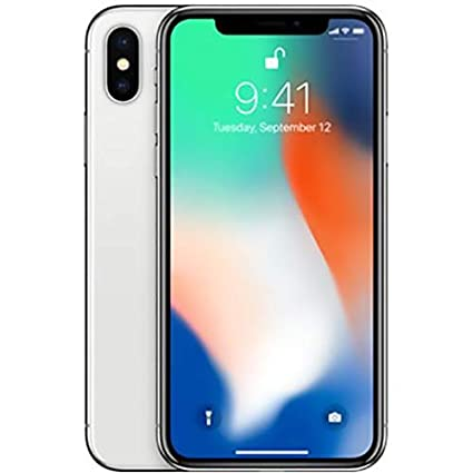 9e2ebb42c Apple iPhone X with FaceTime - 64GB, 4G LTE, Silver: Amazon.ae