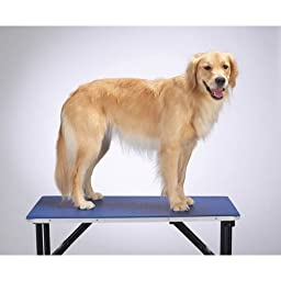 Top Performance  Tabletop Mat — Comfortable, Cushioned Foam and PVC Mats for Dog Grooming Tables - Small, Blue