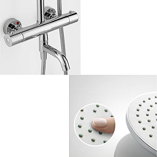 DWhui Thermostatic Shower System, Adjustable Slide Bar, Polished Spray Painting Shower Shower Head Wall Mounted by DWhui (Image #2)