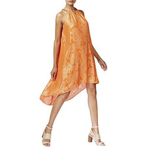 Metallic Shift - MICHAEL Michael Kors Womens Metallic Shift Casual Dress Orange XL