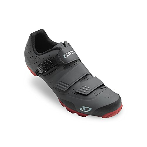 Scarpe MTB Giro Privateer R Mountain Nero-Gum dark shadow/dark red