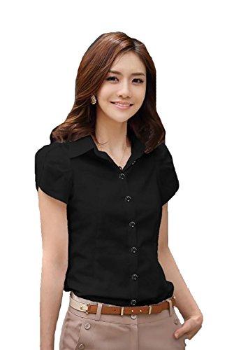 women summer short sleeve shirt casual t shirts black