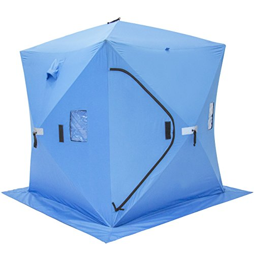 Portable Shelters Pop Up : Best choice products ice fishing shelter tent portable pop