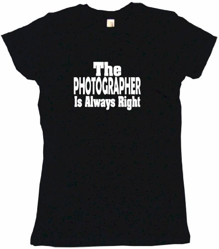 The Photographer Is Always Right Women's Babydoll Tee Shirt XL-Black