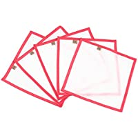 Growsun 5-PCS 8x8 25 Micron Pressing Screen Red for Bubble Bag Set, Ice Hash Extraction Bags, Herb Essense Micron Extractor Bag Kit