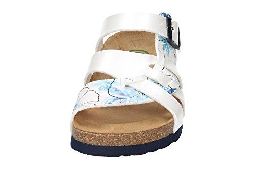 Dr. Brinkmann Womens 701154 Flor Sandals Bianco / Blu