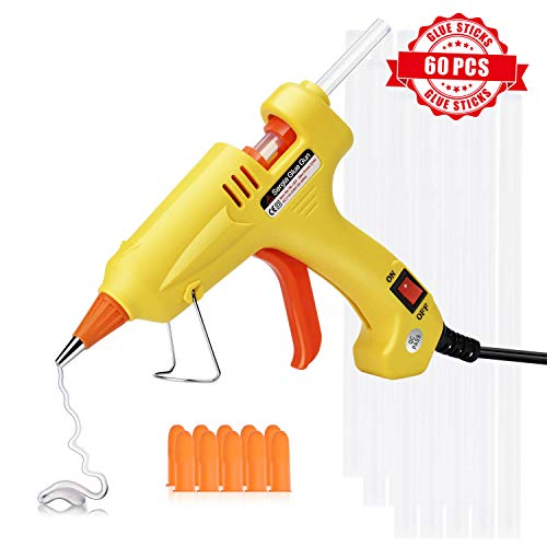 - Hot Glue Gun with Glue Sticks 60 Pcs, Mini Glue Gun Kit Hot Melt (Not Full Size), High Temp, DIY Arts & Craft Use, Home Or School Small Projects Sealing and Quick Daily Repairs, New Upgraded, 20 Watt