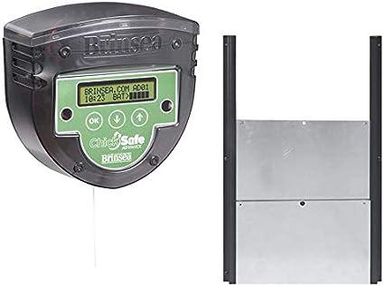 FINCA CASAREJO Kit Puerta automática gallinero BRINSEA Chicksafe Advance + Puerta Aluminio - Promoción por Reloj o por célula fotoeléctrica