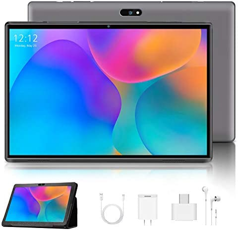10 Inch Tablet, Android 9.0 Pie Tablets 3GB RAM 32GB ROM 128GB Expand 8000mAh, 8MP Camera, 4G, WiFi, Bluetooth, GPS, Google GMS Certified Tablet PC