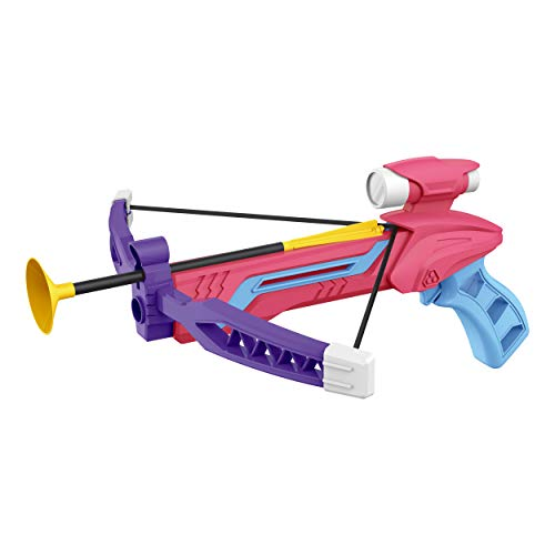Pro Star Mini Pink and Purple Archery Bow with Target Set, Safe Foam Dart Arrows | Kids Crossbow Toy]()