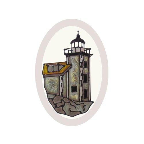 (Michigan Huron Island Lighthouse Painted Glass Suncatcher O-1084 )