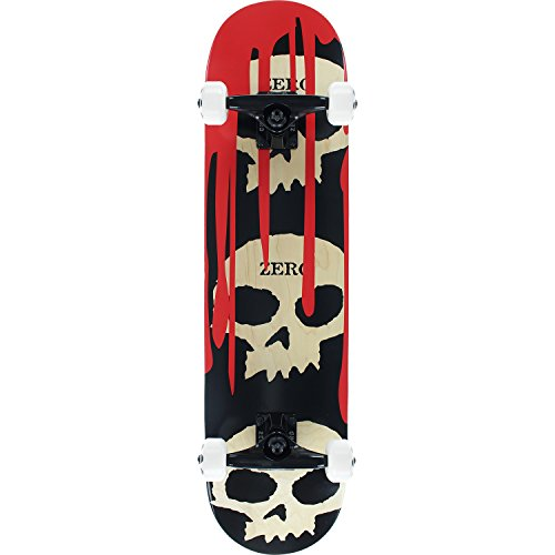 Zero Skateboards 3 Skull Blood Natural/Red/Black Complete Skateboard - 7.62