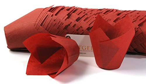 Katgely Red Tulip Baking Liners - Tulip Cupcake Liners Baking Liner Baking Cup - Enhance Cupcake Presentation Pack of 200