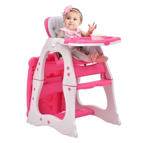 3 in 1 Baby Convertible Play Table Seat High Chair Booster Toddler Feeding Tray - Price Sunglasses L V