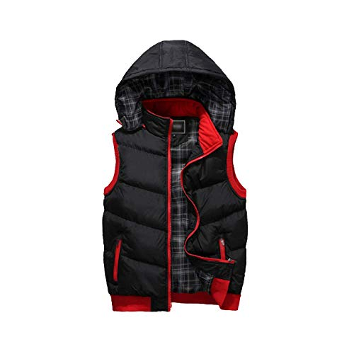 and Winter Men Vest Hooded Black Down DYLBD Casual Autumn Slim 5TqEgxTF